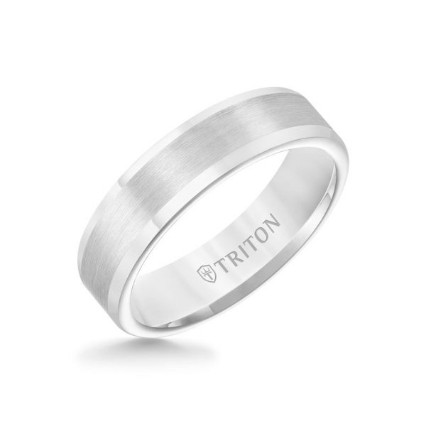 6MM Tungsten Carbide Ring - Satin Finish and Round Edge -11-2117-6