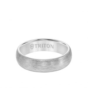 6MM Tungsten Carbide Ring - Crystalline Finish and Rolled Edge11-6054-6