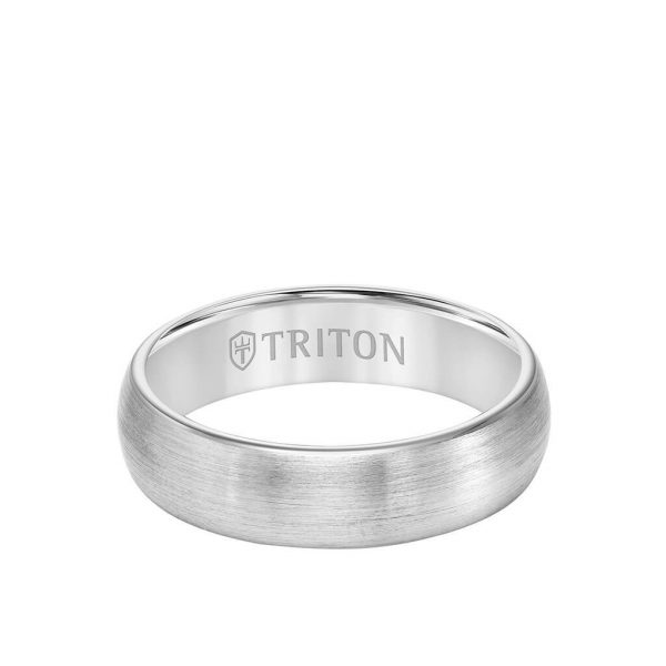 6MM Tungsten Carbide Ring - Satin Finish and Rolled Edge - 11-6056-6