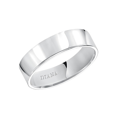 Crisp and classic, this comfort fit, 6mm wedding band features a high polished finish for a timeless look.