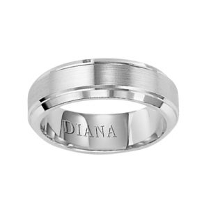 Comfort Fit Wedding Band with Satin finish and bevel edge